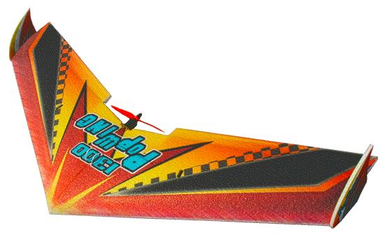 Большие >1100мм TechOne Летающее крыло Tech One Popwing 1300мм EPP ARF