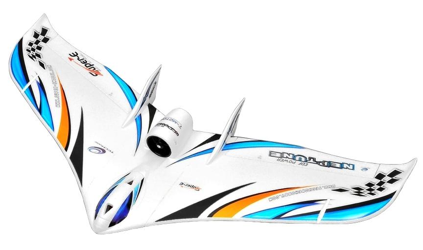 Большие >1100мм TechOne Летающее крыло Tech One Neptune EDF 1230мм EPO ARF (синий)