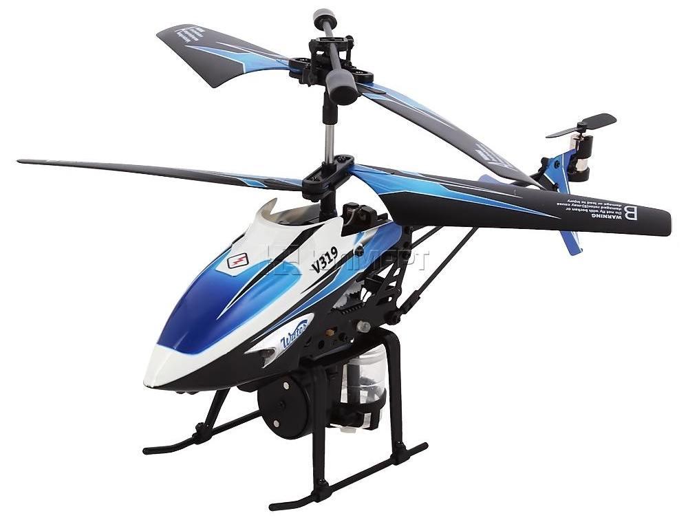 Микро WL Toys Вертолёт 3-к микро и/к WL Toys V319 SPRAY водяная пушка (синий)