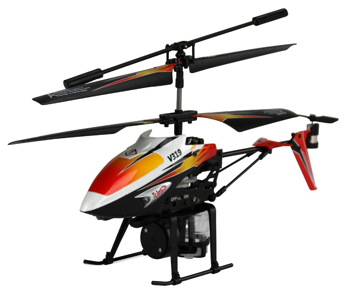 Микро WL Toys Вертолёт 3-к микро и/к WL Toys V319 SPRAY водяная пушка (оранжевый)