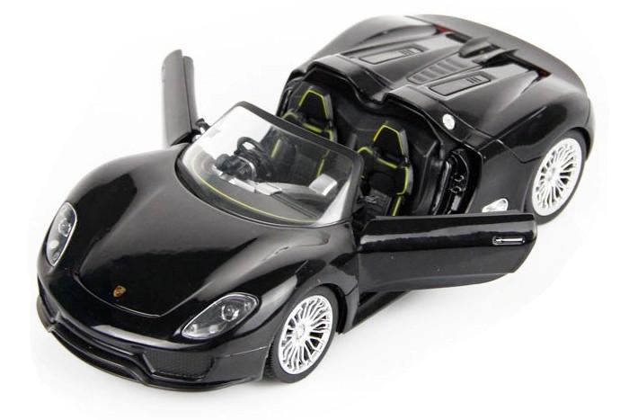 Масштабы 1:24 - 1:18 Meizhi Машинка р/у 1:24 Meizhi лиценз. Porsche 918 металлическая (черный)