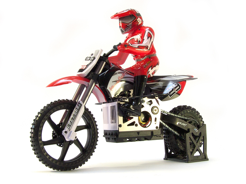 Мотоциклы Himoto Мотоцикл 1:4 Himoto Burstout MX400 Brushed (красный)