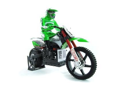 Мотоциклы Himoto Мотоцикл 1:4 Himoto Burstout MX400 Brushed (зеленый)