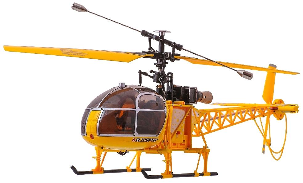 Большие WL Toys Вертолёт 4-к большой р/у 2.4GHz WL Toys V915 Lama (желтый)