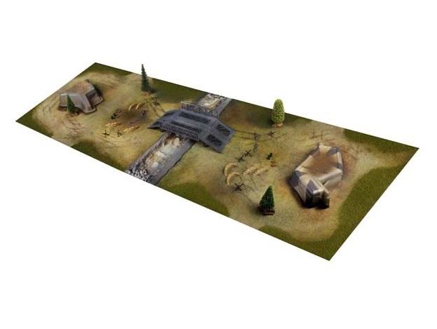 Аксессуары для танковых боёв VSTANK Диорама VSTANK для танкового боя 58x180см