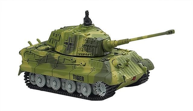 Мини и микро Great Wall Toys Танк микро р/у 1:72 King Tiger со звуком (зеленый, 27MHz)