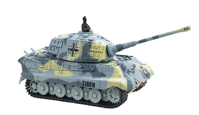 Мини и микро Great Wall Toys Танк микро р/у 1:72 King Tiger со звуком (серый, 49MHz)