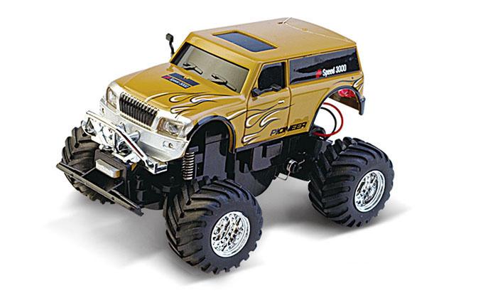 Масштабы 1:67 - 1:32 Great Wall Toys Джип микро р/у 1:58 GWT 2207 (коричневый, 27MHz)