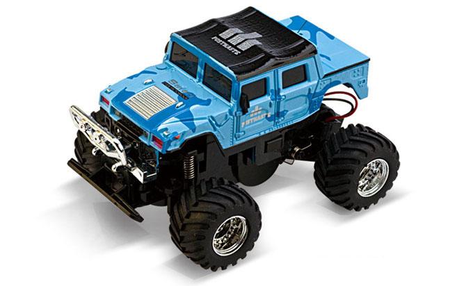 Масштабы 1:67 - 1:32 Great Wall Toys Джип микро р/у 1:58 GWT 2207 (голубой, 40MHz)