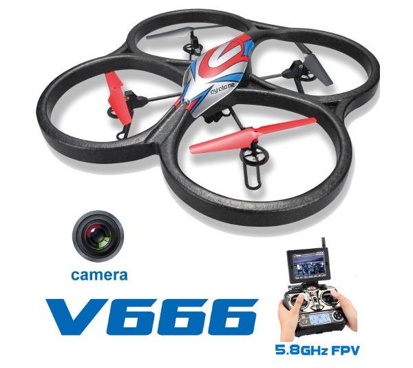 Большие WL Toys Квадрокоптер большой р/у WL Toys V666 Cyclone с FPV системой 5.8ГГц