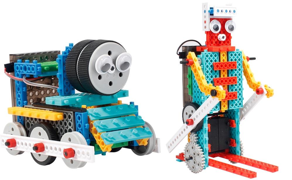 Конструкторы LongYeah Конструктор на и/к LongYeah R722 4-в-1 (паровозик, машинка, лыжник, робот)