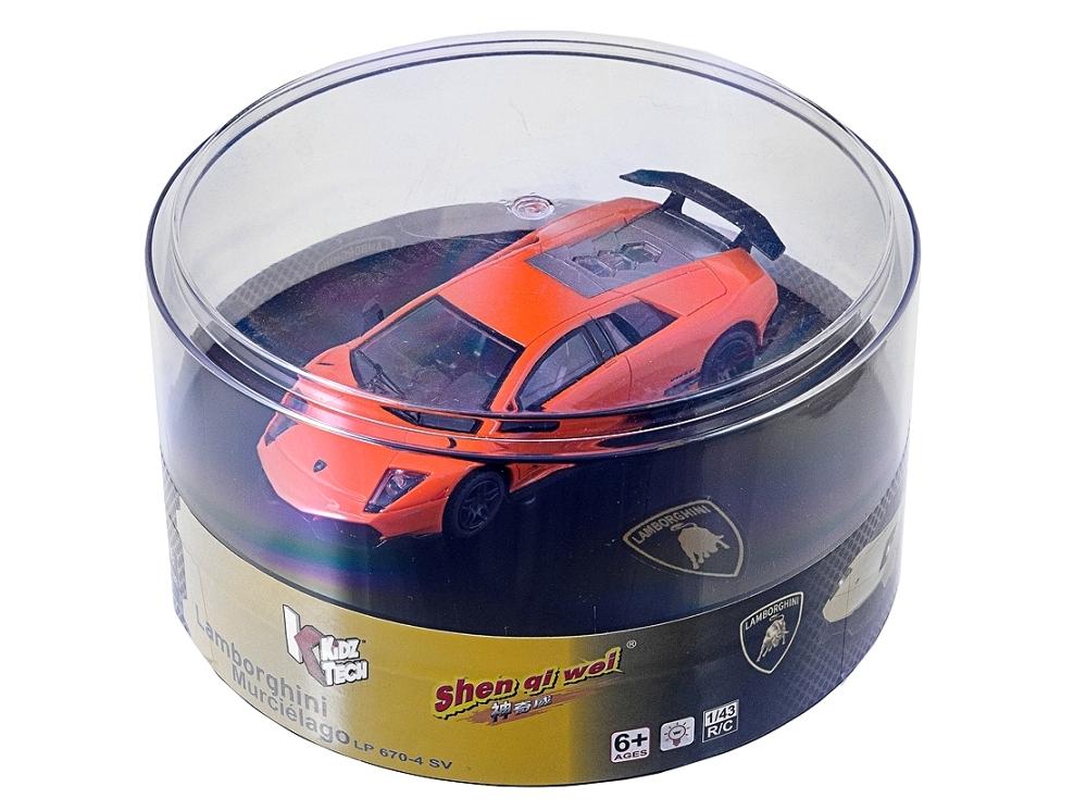 Масштабы 1:67 - 1:32 ShenQiWei Машинка микро р/у 1:43 лиценз. Lamborghini LP670 (оранжевый)