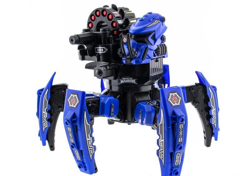 Животные Keye Toys Робот-паук р/у Keye Space Warrior ракеты, диски, лазер (синий)