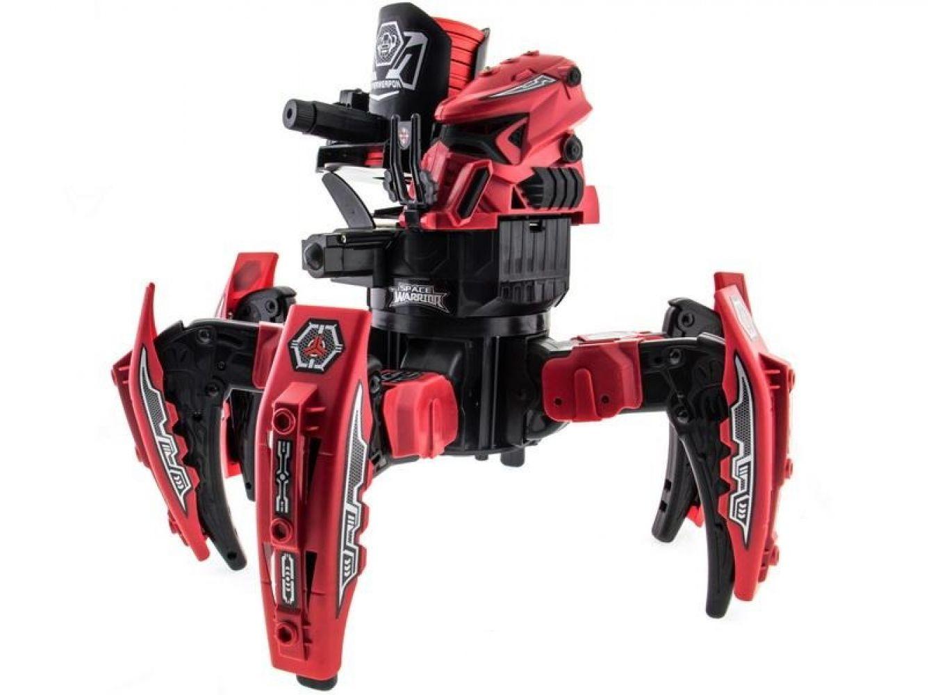 Животные Keye Toys Робот-паук р/у Keye Space Warrior ракеты, диски, лазер (красный)