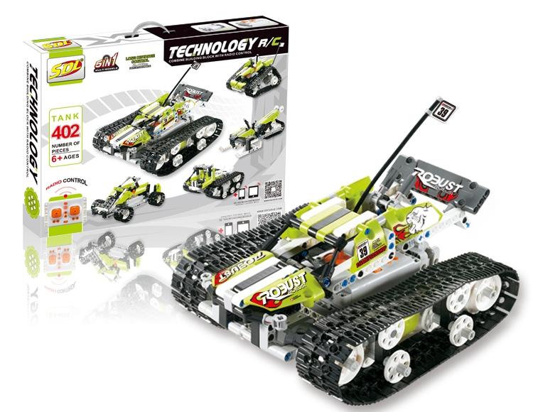 Конструкторы SDL Конструктор р/у SDL Tank 5-в-1 (402 детали)