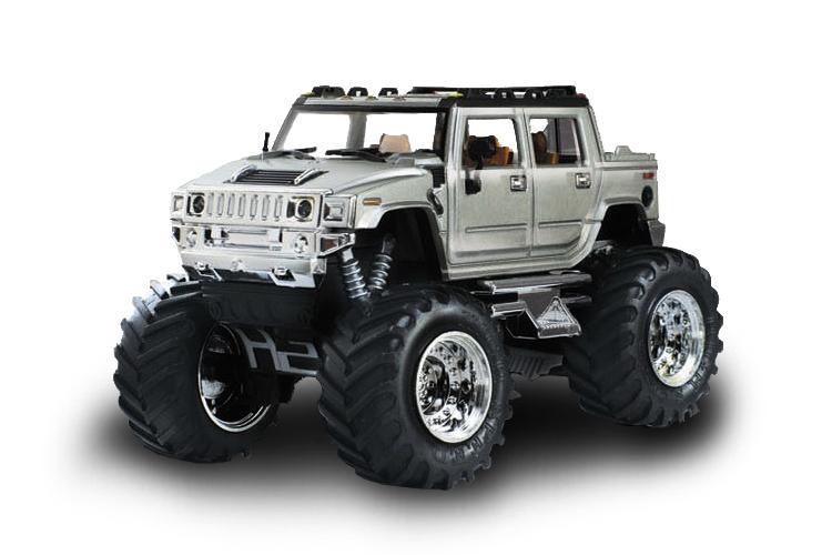 Масштабы 1:67 - 1:32 Great Wall Toys Джип микро р/у 1:43 Hummer (серый)