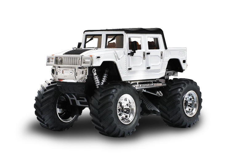 Масштабы 1:67 - 1:32 Great Wall Toys Джип микро р/у 1:43 Hummer (белый)