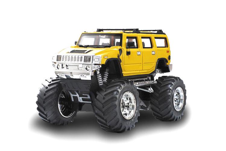 Масштабы 1:67 - 1:32 Great Wall Toys Джип микро р/у 1:43 Hummer (желтый)