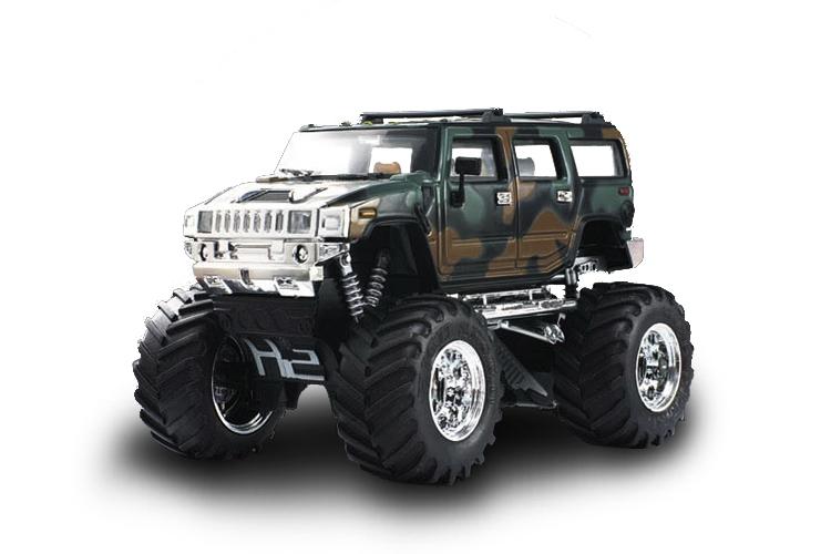 Масштабы 1:67 - 1:32 Great Wall Toys Джип микро р/у 1:43 Hummer (хаки зеленый)