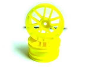 Yellow Spoke Wheel Rims 2P
