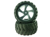 1:18 Tire and Rim for Monster Truck (23626B+28662) 2P
